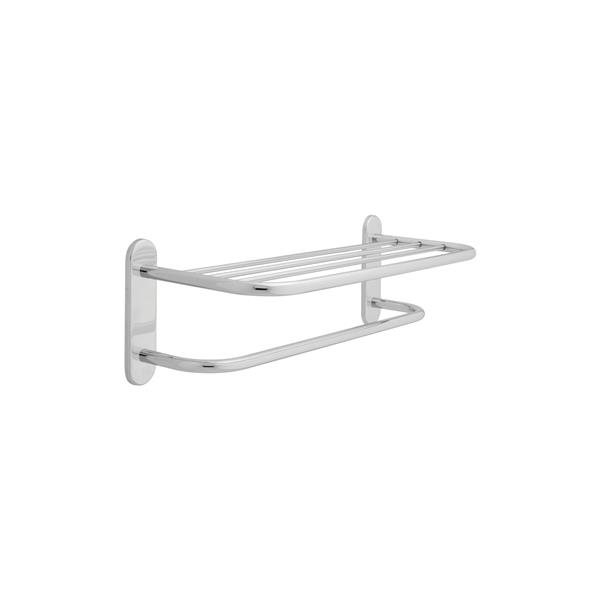 Delta Brass Towel Shelf with Bar - 24-in - Chrome