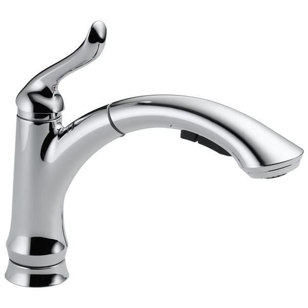 Delta Linden Pull-Out Kitchen Faucet - Chrome