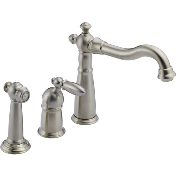 Delta Kitchen Faucets.Delta Victorian Kitchen Faucet With Spray Stainless Steel 155 Ss