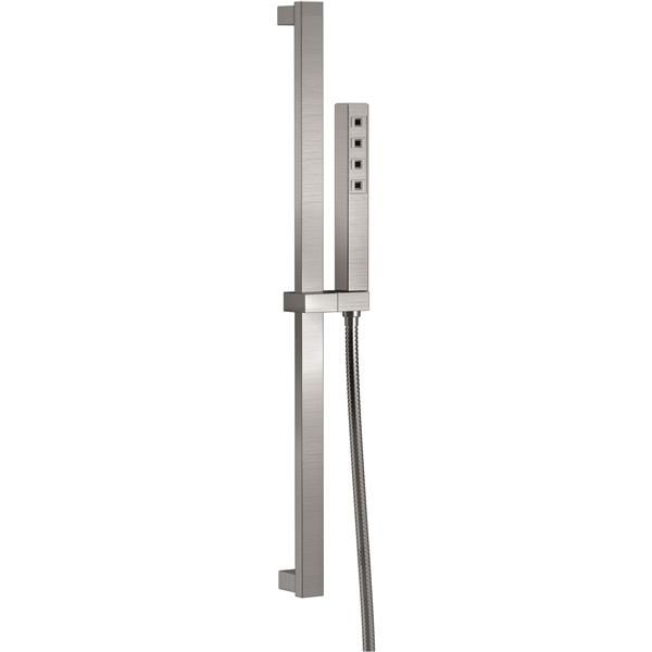Delta Slide Bar Hand Shower with H2Okinetic® - Stainless Steel