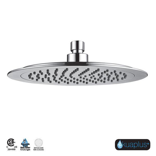 Akuaplus Round Shower Head - 10-in - Chrome