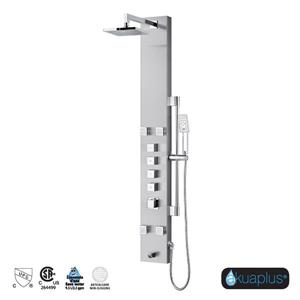 Akuaplus Nora Shower Panel with 4 Jets - Stainless Steel