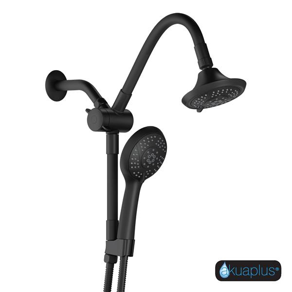 Akuaplus Hand Shower Combo with Adjustable Arm - Black Matte