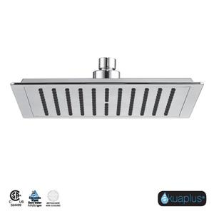 Akuaplus Square Shower Head - 10-in - Chrome