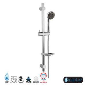 Akuaplus Adjustable Hand Shower Rail - 6 Settings - Chrome