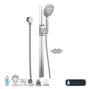 Akuaplus Magnetic Adjustable Shower Post System - Chrome