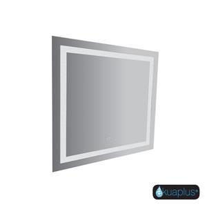 Miroir pour vanité avec lumière à DEL et capteur Lea de Akuaplus, 36 po x 36 po