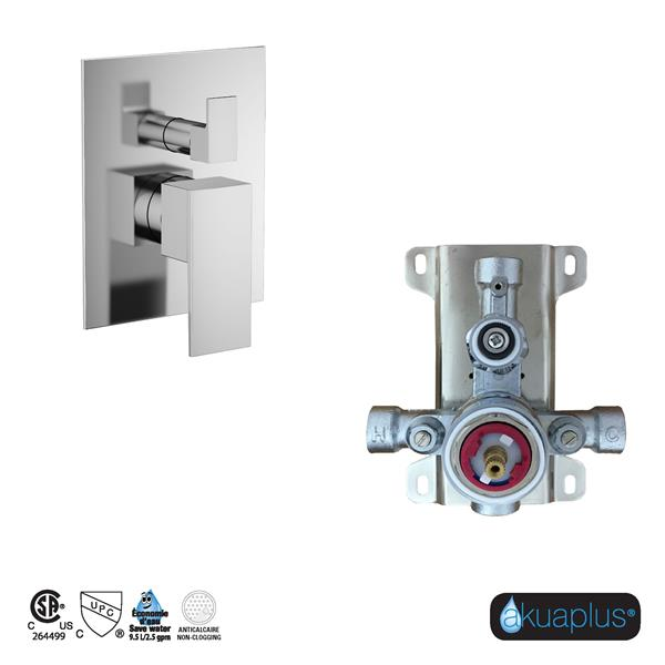 Akuaplus Irene Shower Faucet with Hand Shower and Sliding Rail - Chrome