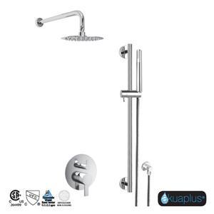Ensemble de robinet de douche et douchette avec barre réglable Elite de Akuaplus