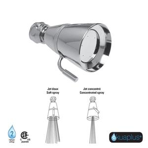 Akuaplus Shower Head with Adjustable Spray - Pack of 6 - Chrome