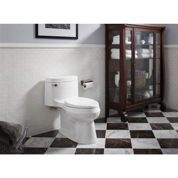 Toilette allongée Cimarron de KOHLER, siphon dissimulé, cachemire