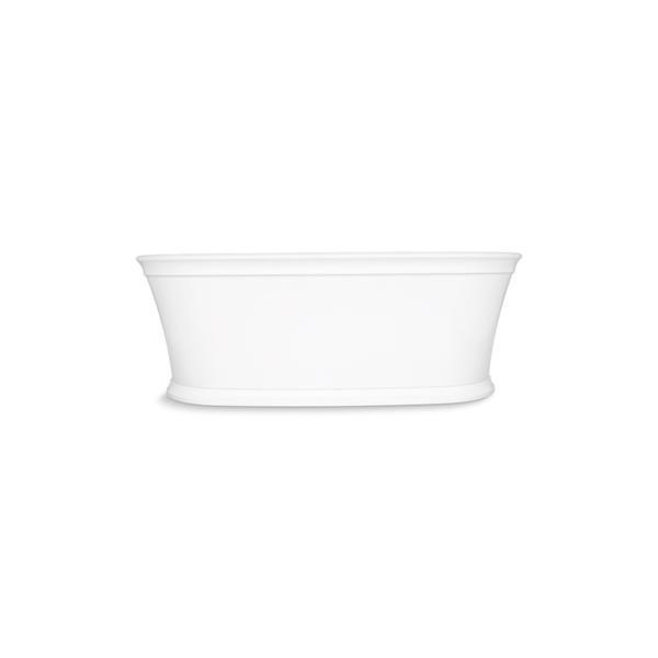 KOHLER Memoirs Freestanding Bath - Center Drain - 66-in x 36-in - White