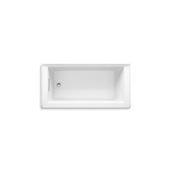 KOHLER Underscore Alcove Bath - Left-Hand Drain - 60-in x 30-in - White