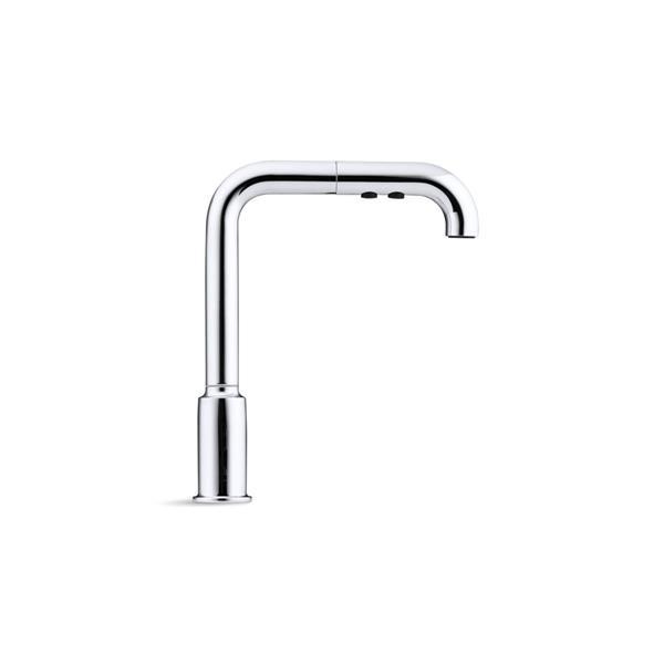 KOHLER Purist Pull-Out Kitchen Sink Faucet - 1-Handle - Matte Black