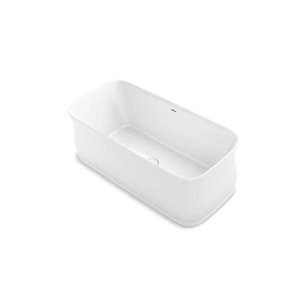 KOHLER Imperator Freestanding Bath - Center Drain - 66-in x 31-in - White