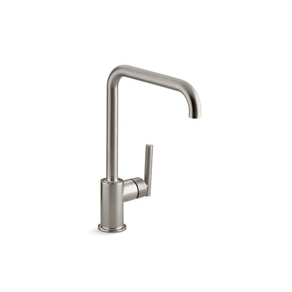 KOHLER Purist High-Arc Kitchen Sink Faucet - 1-Handle - Stainless Steel