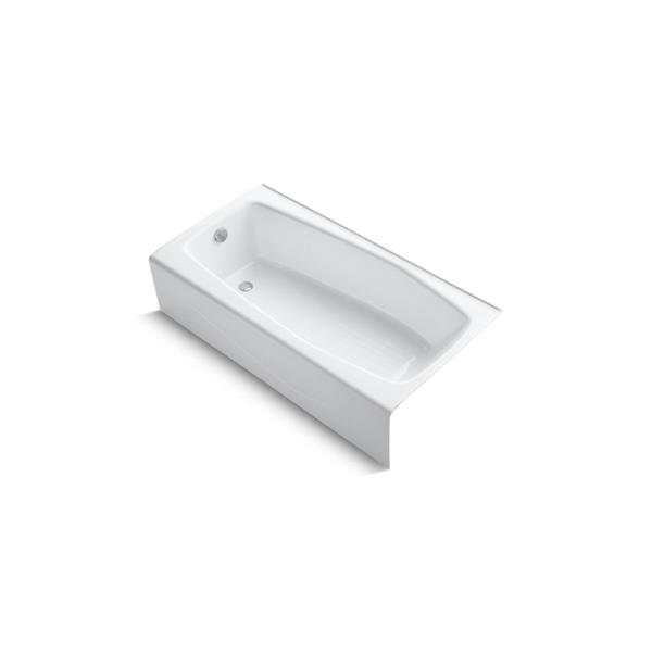 KOHLER Villager Alcove Bath - Integral Apron and Left-Hand Drain - 60-in x 30-in - White