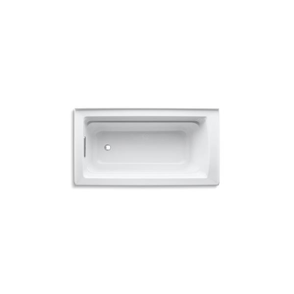 KOHLER Archer Alcove Bath - Left-Hand Drain - 60-in x 32-in - White