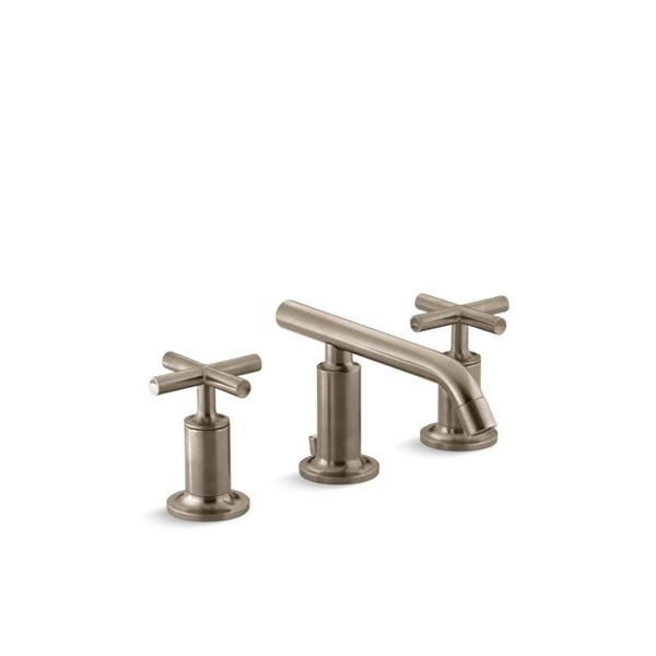Robinet de lavabo Purist de KOHLER à 2 poignées, bronze