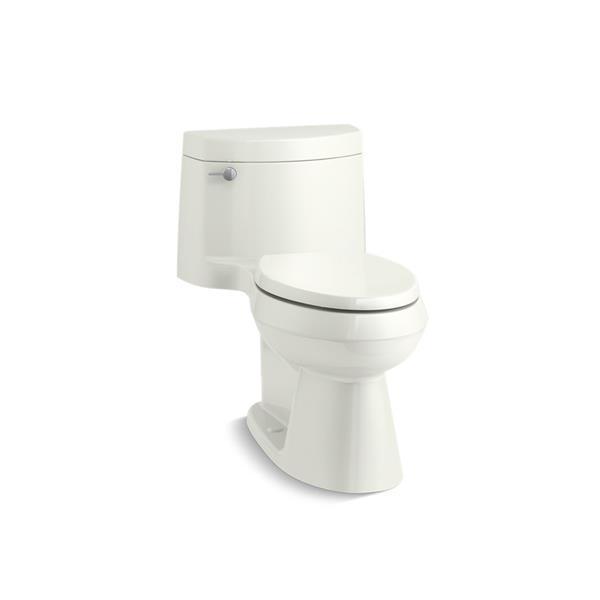 Toilette allongée Cimarron de KOHLER, siphon dissimulé, blanche
