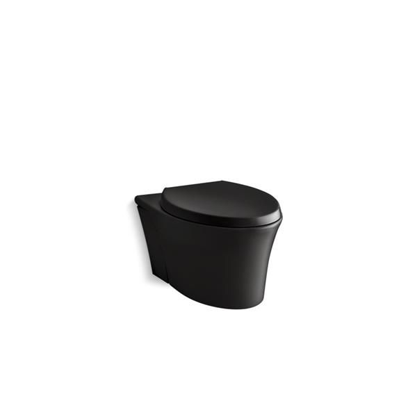 KOHLER Veil Wall-Mount Toilet - Standard Height - Black