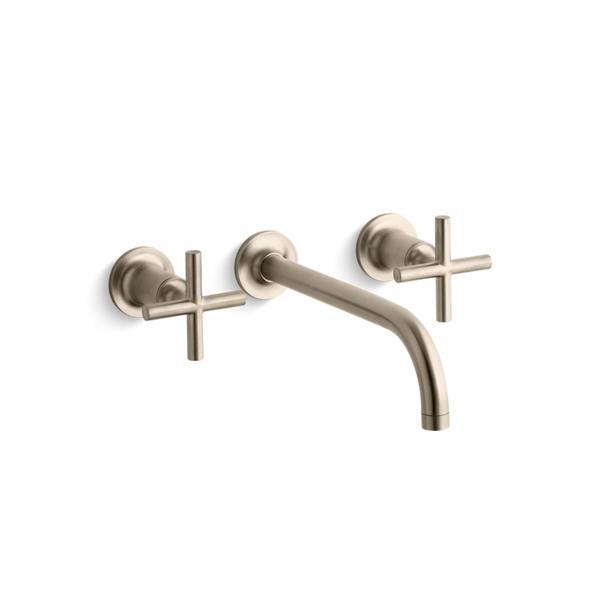 KOHLER Purist Bathroom Sink Faucet - 2-Handle - WaterSense Labeled - Brushed Bronze