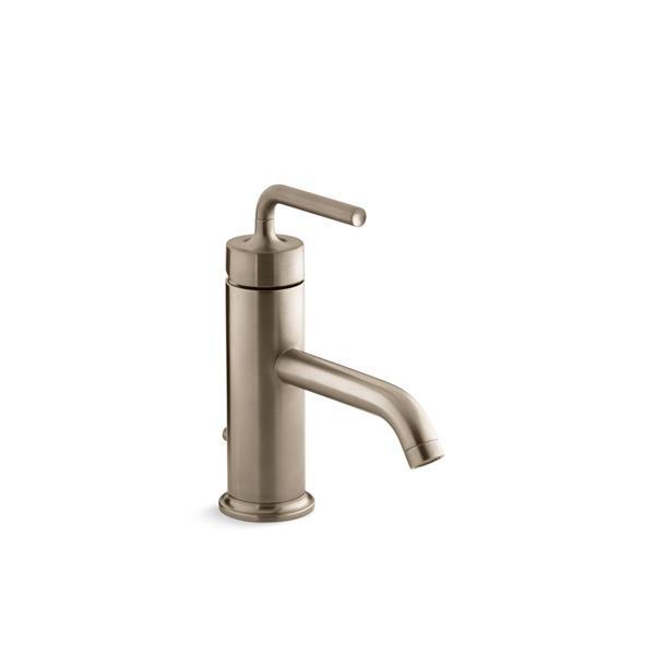KOHLER Purist Bathroom Sink Faucet - 1-Handle - Brushed Bronze