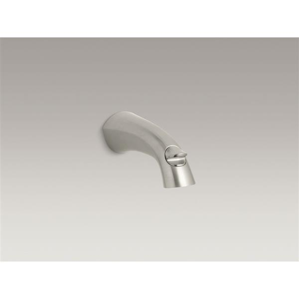 KOHLER Alteo Bathtub Spout with Diverter - 6.5-in - Brushed Nickel