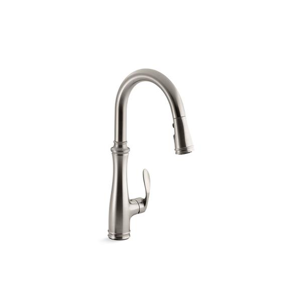 KOHLER Bellera Pull-Down Kitchen Sink Faucet - 1-Handle - Stainless Steel