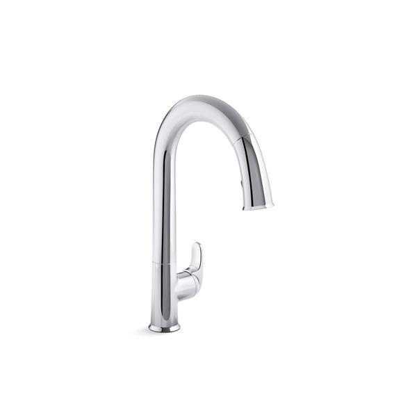 KOHLER Sensate Pull-Down Kitchen Sink Faucet - Polished Chrome