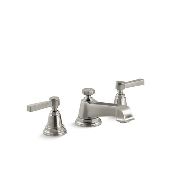 Robinet de salle de bains Pinstripe de KOHLER à 2 poignées, nickel brossé