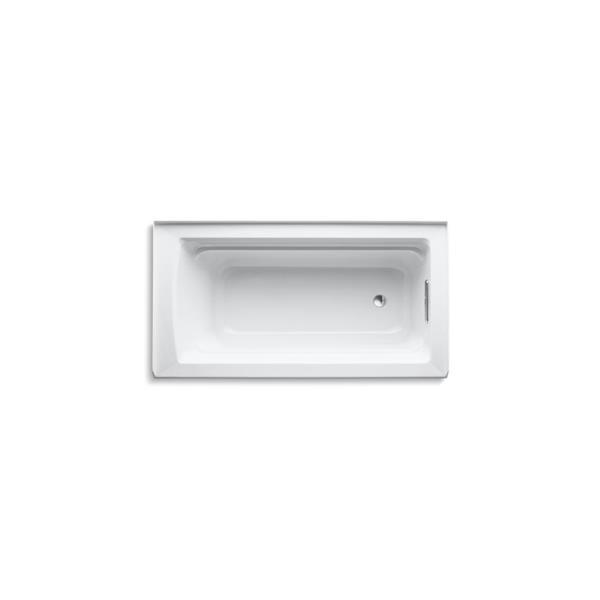 KOHLER Archer Alcove Bath - Right-Hand Drain - 60-in x 32-in - White