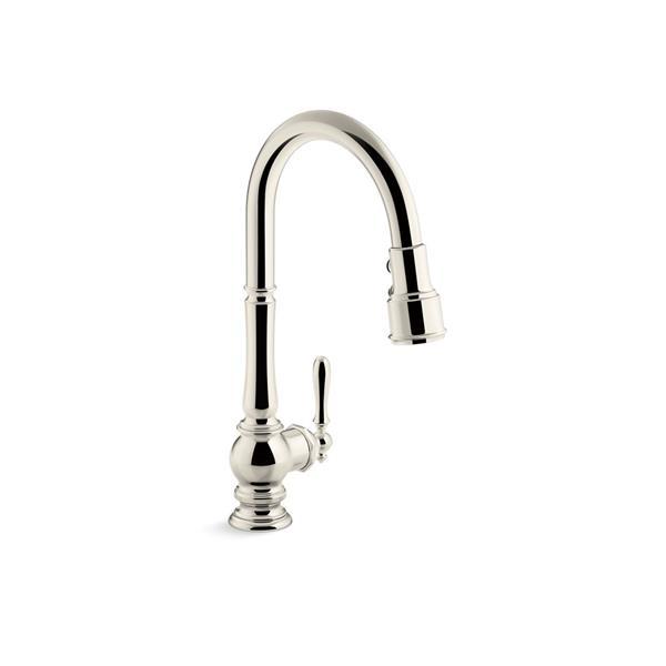 KOHLER Artifacts High-Arc Kitchen Sink Faucet - 1-Handle - Polished Nickel
