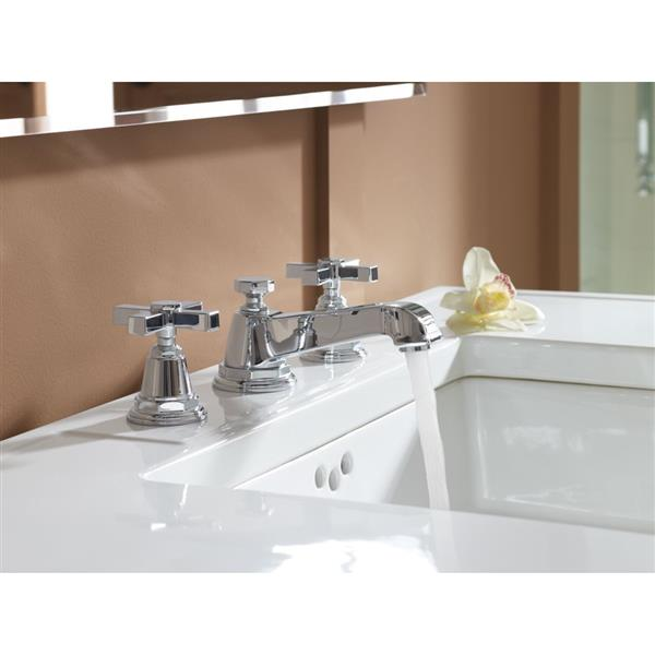 KOHLER Pinstripe Bathroom Sink Faucet - 2-Handle - Brushed Nickel