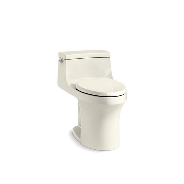 KOHLER San Souci Compact Elongated Toilet - 1-Piece - Comfort Height - Biscuit