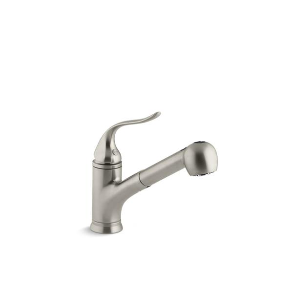 KOHLER Coralais Pull-Out Kitchen Sink Faucet - 1-Handle - Brushed Nickel