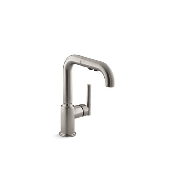 KOHLER Purist Pull-Out Kitchen Sink Faucet - Stainless Steel