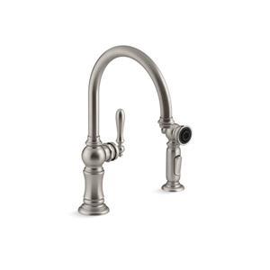 KOHLER Artifacts High-Arc Kitchen Sink Faucet - Stainless Steel