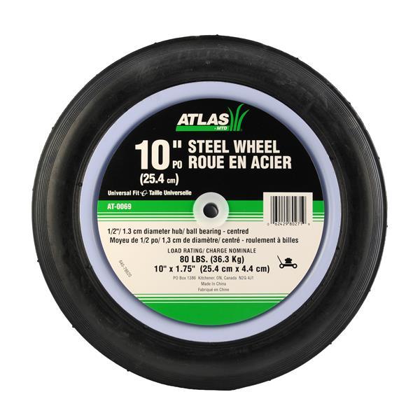 Atlas Replacement Steel Lawn Mower Wheel - 10-in x 1.75-in