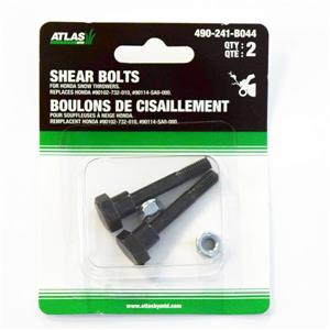 Atlas Replacement Shear Bolts - for Honda Snow Throwers - Set of 2