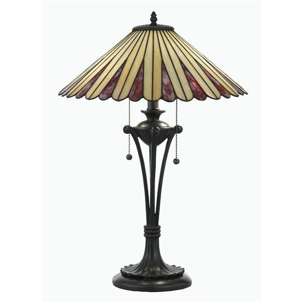 Fine Art Lighting Tiffany Table Lamp - Glass - 24-in - Vintage Bronze