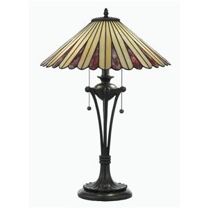 Lampe de table style Tiffany de Fine Art Lighting , verre, 24 po, bronze antique