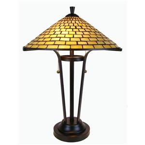 Lampe de table contemporaine style Tiffany de Fine Art Lighting , verre, 24 po, bronze