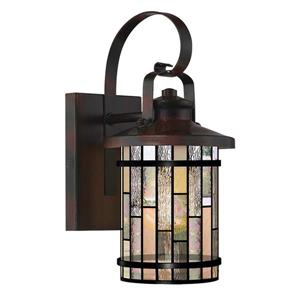 Fine Art Lighting Tiffany-Style Wall Sconce - Glass - 12-in - Bronze