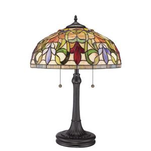 Lampe de table style  Tiffany de Fine Art Lighting, verre, 23 po, bronze
