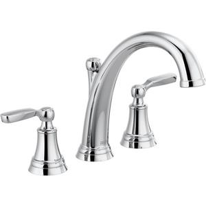 Delta Woodhurst Deck Mount Roman Tub Faucet - 11.13-in. - Chrome