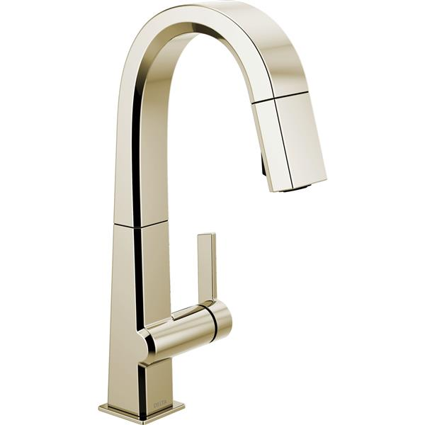 Delta Pivotal Bar and Prep Faucet - 14.31-in. - 1-Handle - Polished Nickel