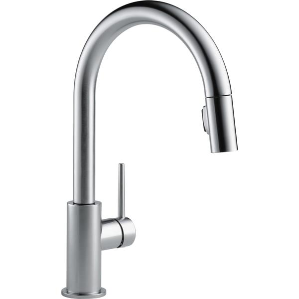 Delta Trinsic Kitchen Faucet - 15.69-in. - 1-Handle - Arctic Stainless