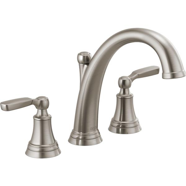 Delta Woodhurst Deck Mount Roman Tub Faucet - 11.13-in. - Stainless Steel