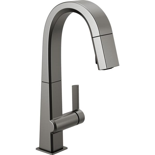 Delta Pivotal Bar and Prep Faucet - 14.31-in. - 1-Handle - Black Stainless